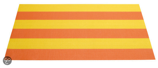 ASA Selection Placemat Gestreept 33 x 46 cm - Geel/Oranje