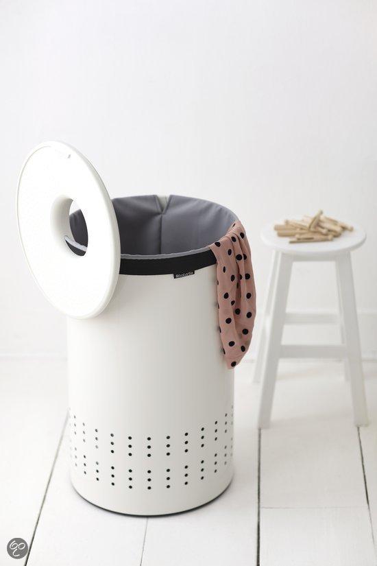 brabantia wasmand wasbox met uitneembare waszak rond 50 liter wit. Black Bedroom Furniture Sets. Home Design Ideas