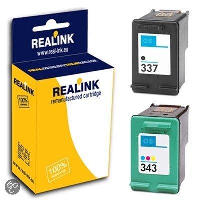 HP 337 / 343 inktcartridges dubbelpak zwart en kleur (huismerk)