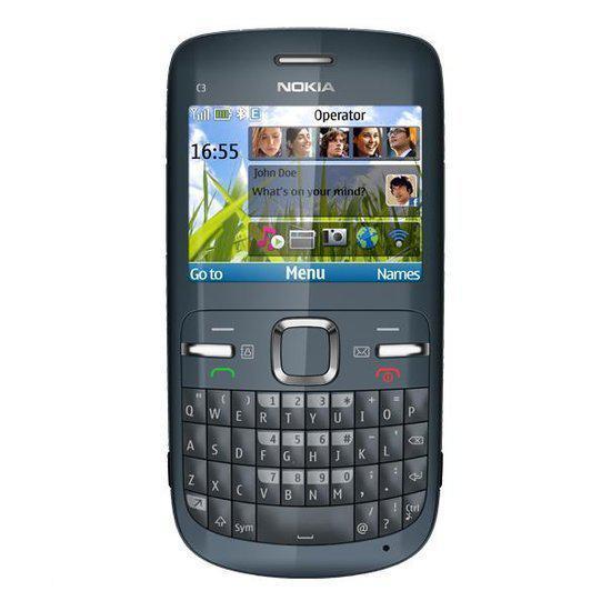 Nokia C3-00 - Grijs - Vodafone prepaid telefoon