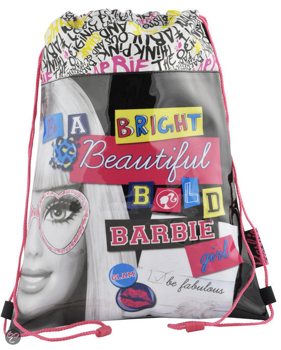 It�s Barbie trekkoord tas in Linter