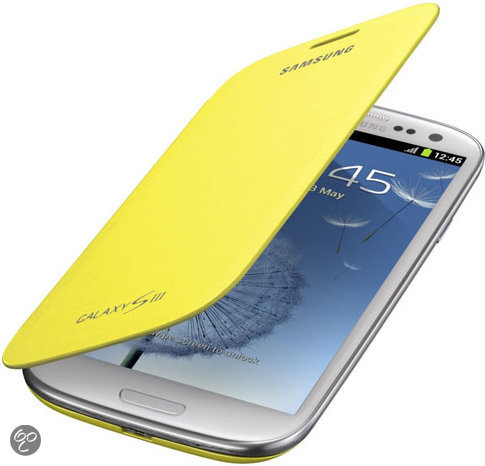 Samsung Flip Cover voor de Samsung Galaxy S3 - Geel
