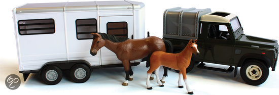 Land Rover And Horse Trailer Set