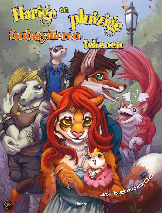 Cover van het boek 'Harige en pluizige fantasydieren tekenen' van Jared Hodges