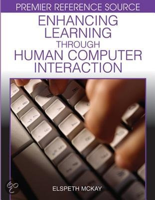 Human-Computer Interaction and E-Learning, M.Sc.