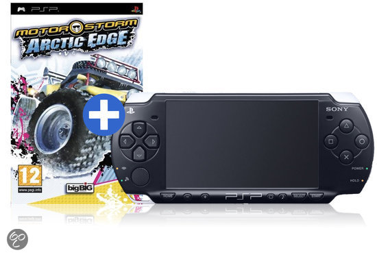 psp slim lite 3000 zwart motorstorm arctic edge sony games. Black Bedroom Furniture Sets. Home Design Ideas