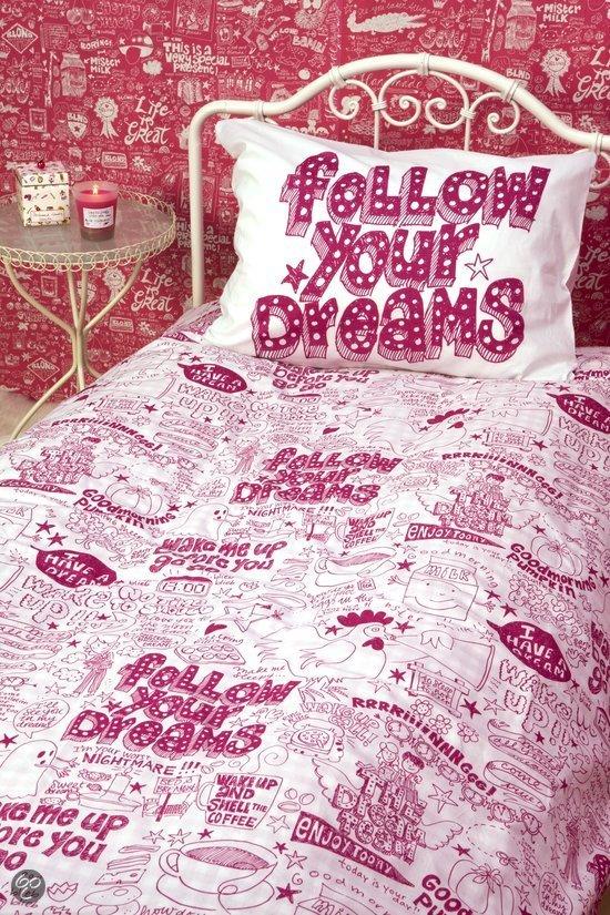 bol com   Blond Amsterdam Dekbedovertrekset follow your dreams 140×200  220 cm   Wonen