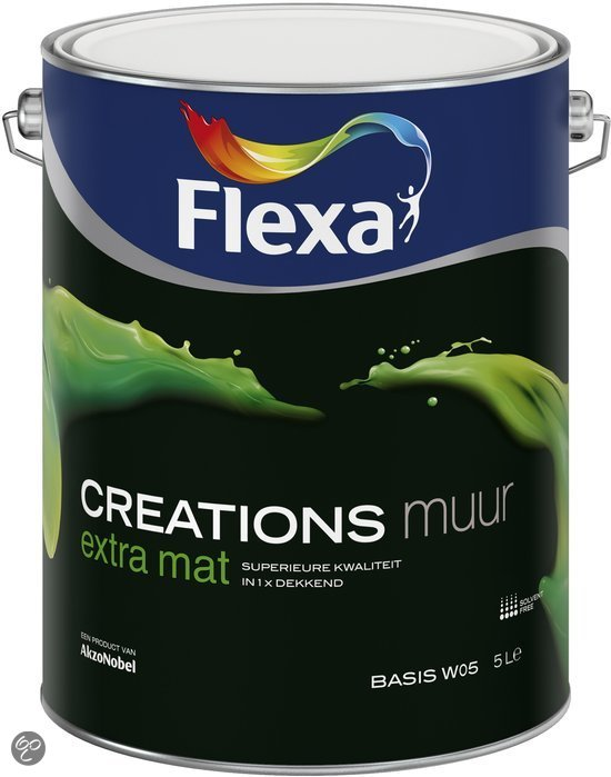 Early Dew Flexa Keuken : bol.com Flexa Creations Muurverf – Extra Mat – Early Dew – 1 liter