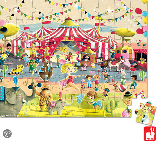 Janod Vloerpuzzel Circus in Anderen