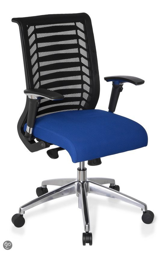 hjh office Avatar Pro - Bureaustoel - Zwart / blauw in Eupen