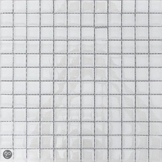 20170405&193318_Witte Mozaiek Badkamer ~ bol com  Alfa Mosaico Mozaiek Invierno hoogglans wit glas 2,3×2,3×0,8