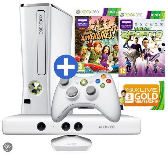 Xbox 360 Slim 4GB + Kinect Sports 1 + Kinect Adventures - Limited Edition Casper