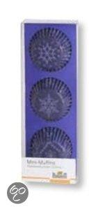 Birkmann Papieren Muffinvormpjes Snowflake Ø 4,5 cm - 72 Stuks - Paars