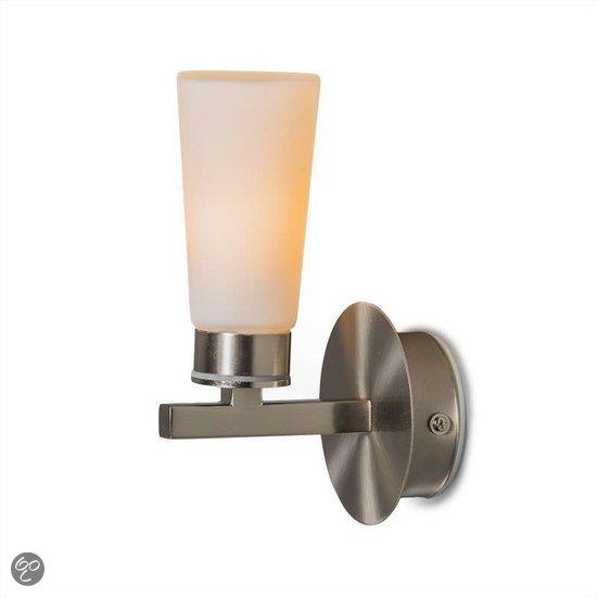 QAZQA Badkamerlamp Badkamer wandlamp Simas 1 staal
