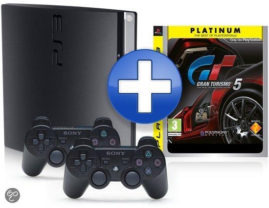 Sony PlayStation 3 Slim 320 GB + Gran Turismo 5 + Extra Dualshock Controller