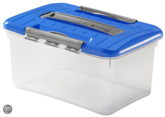 Curver Optima Opbergbox - 5 l - Kunststof - Transparant / Blauw