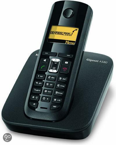 Gigaset A580 - Single DECT telefoon - Zwart