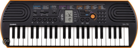 Casio SA-76 Keyboard Orange Casing Base 44 Mini Toetsen