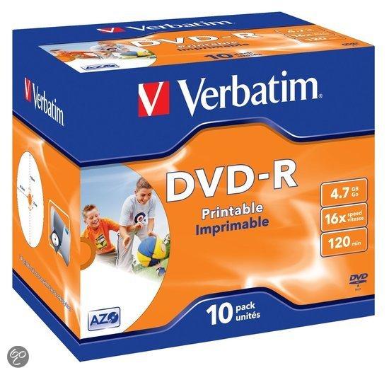 Verbatim 43521 DVD-R Wide Inkjet Printable ID Brand