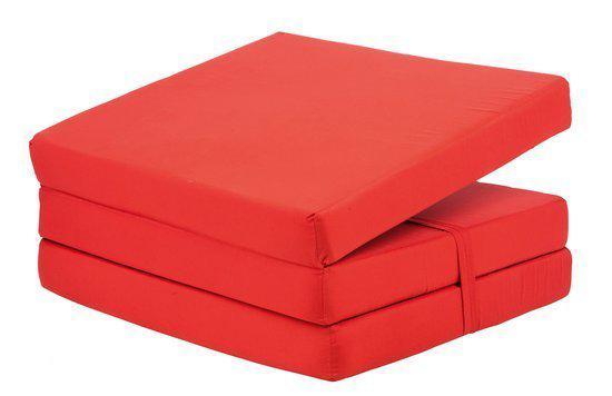 bol.com : Sakwa Zitzak Opvouwbare matras rood : Wonen
