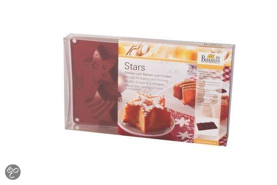 Birkmann Siliconen Bakvorm Stars Kerst - 6 Stuks
