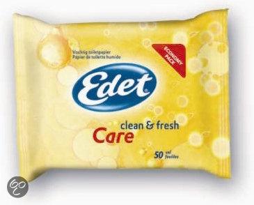 Edet Vochtig Toiletpapier Care - 50 Stuks