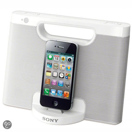 Sony RDP-M7iP  - Compact luidsprekerstation voor iPod/iPhone - Wit