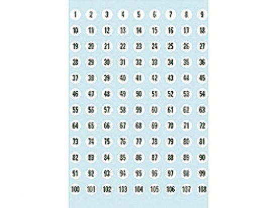 Huismerk Herma 4128 Etiket met getallen 1-540 8mm Wit