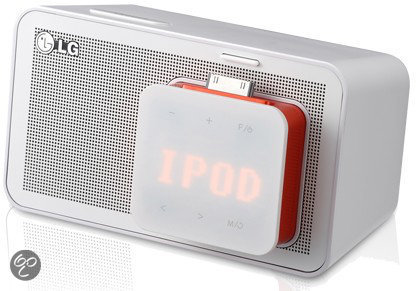 LG ND1520 - Wekkerradio met dockingstation voor iPod en iPhone- Wit