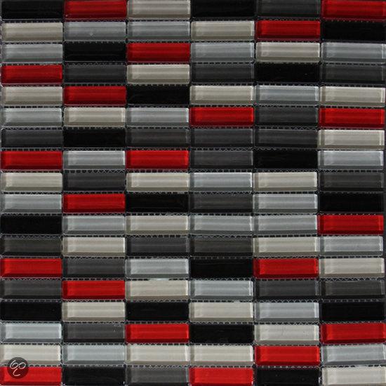 Sierbestrating - Kamer in rood en grijs ...