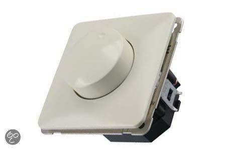 Peha Inbouw Dimmer - LED - Drukwissel - Universeel - Voor 6-120W - Creme