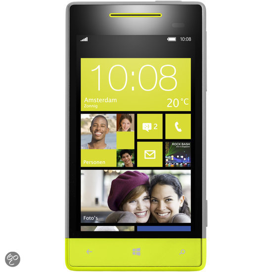 HTC Windows Phone 8S - Grijs/geel