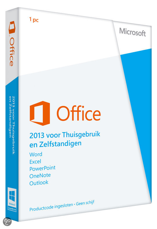 Microsoft Office Home and Business 2013 - Engels / 32-bit/64-bit / 1 Licentie / Medialess