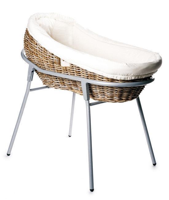 wieg rotan kubu grijs incl standaard en matras. Black Bedroom Furniture Sets. Home Design Ideas