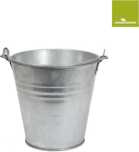 Greenware emmer alpha zink h23 5d23 7 liter tuin - Kleur grijs zink ...