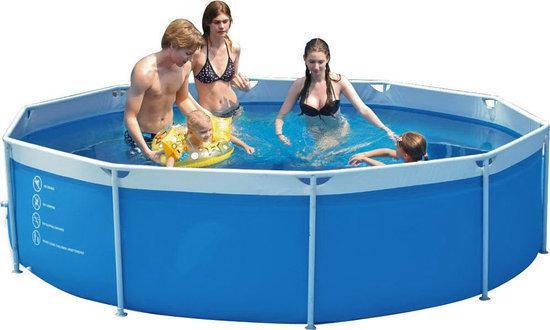 Summer stars metaal frame zwembad met 12v for Zwembad met frame