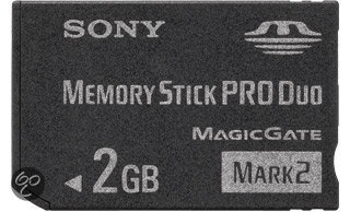Sony Memory Stick PRO duo kaart 2 GB
