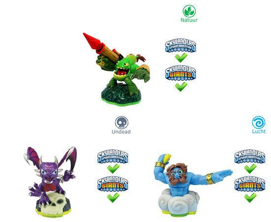 Skylanders Spyro's Adventure Triple Pack Lightning Rod, Zook, Cynder Wii + PS3 + Xbox360 + 3DS + Wii U + PS4