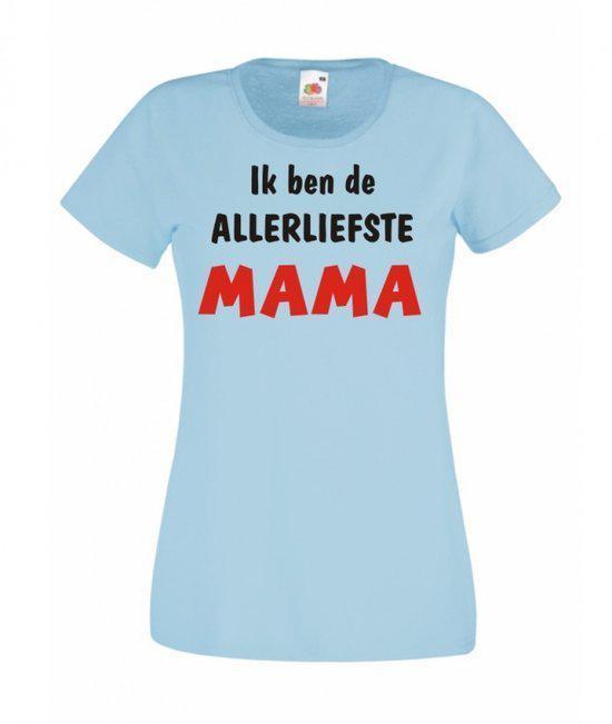 Mijncadeautje Dames T-shirt blauw XS Allerliefste Mama in Tohogne
