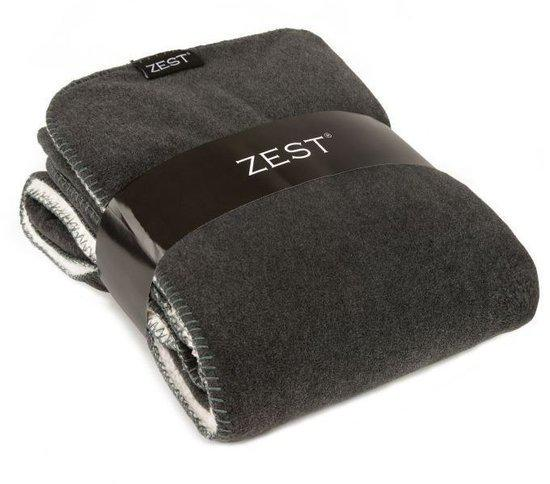 bol.com : Zest fleece- Plaid - Fleece - 125 x 150 cm - Grijs : Wonen