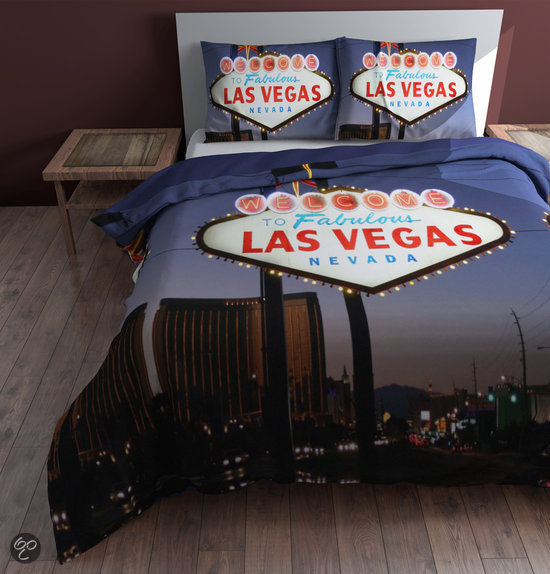 sleeptime las vegas dekbedovertrekset lits jumeaux 240 x 220 cm rood. Black Bedroom Furniture Sets. Home Design Ideas