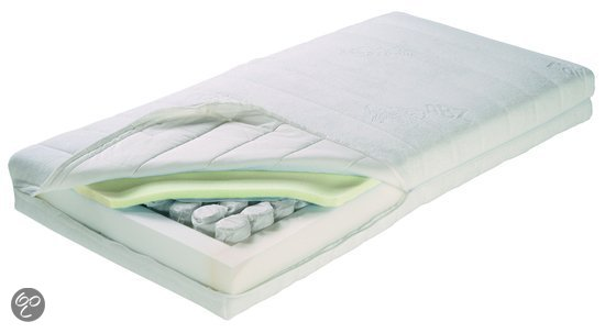 ABZ Memory Badstof - Pocketveren Kindermatras 60x120 cm