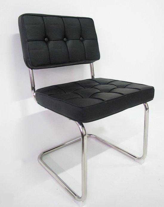 Breazz stoel bauhaus wachtkamerstoel zwart set for Bauhaus stoel leer