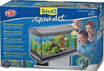 tetra aqua art aquarium 60 liter zilver. Black Bedroom Furniture Sets. Home Design Ideas