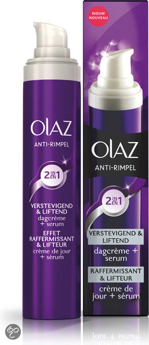 Olaz Anti-Rimpel Verstevigend & Liftend 2-in1 Dagcrème & serum - 50 ml - Dagcrème
