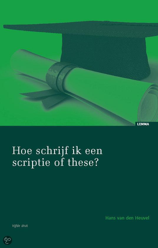 Hoe schrijf je een scriptie/thesis? | Scriptie Overzicht nl