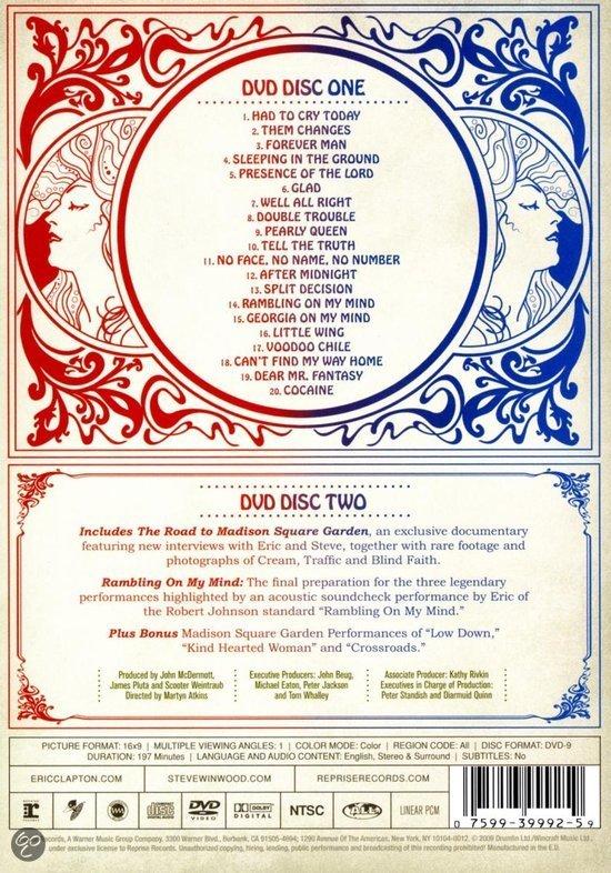 Eric Clapton Steve Winwood Live From Madison Square Garden Eric Clapton