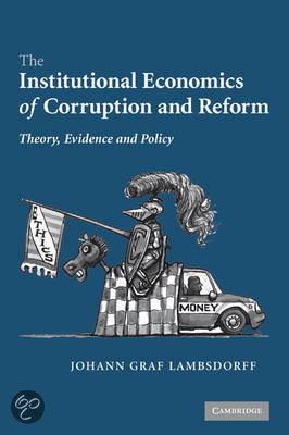 Oorspronkelijke titel The Institutional Economics of Corruption and