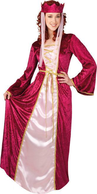 Luxe Renaissance Koningin - Kostuum - Maat M - Rood