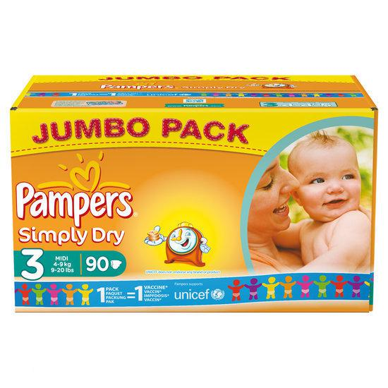 pampers simply dry 3